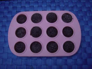 "Frozen mini ""muffins"" of Mulberry Dressing for Salad - for future use!"