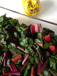 Steamed Beet Greens