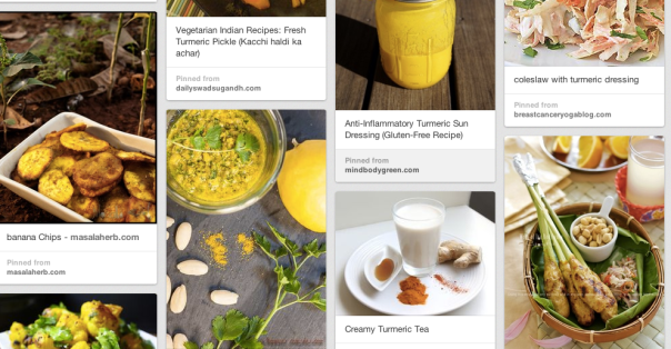 A few of the 200+ recipes with turmeric on my Pinterest board