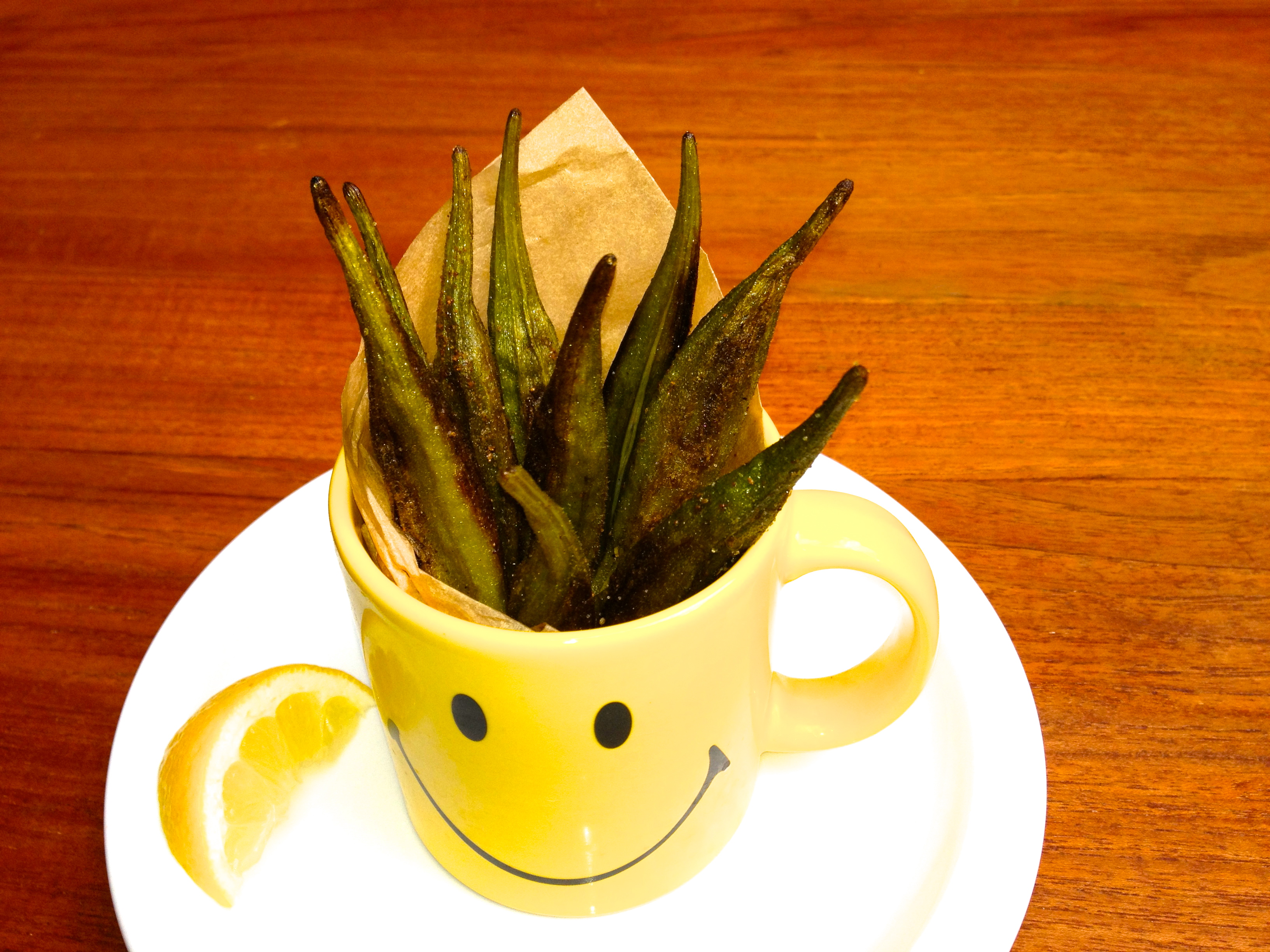 "These Baked Okra Boardwalk ""Fries"" are a fun and healthy food ..."