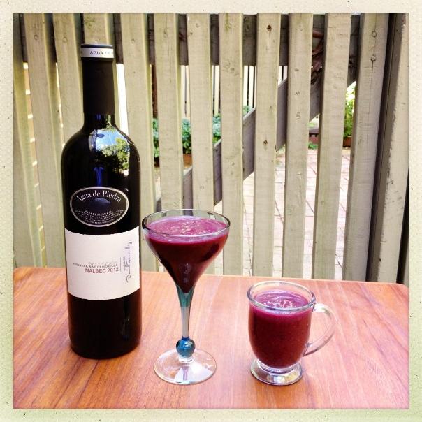 Berry Cherry Smoothie & Berry Cherry Wine Cooler   Monamifood