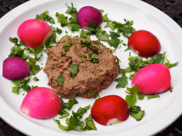 Chicken Liver Pate with Radish Halves