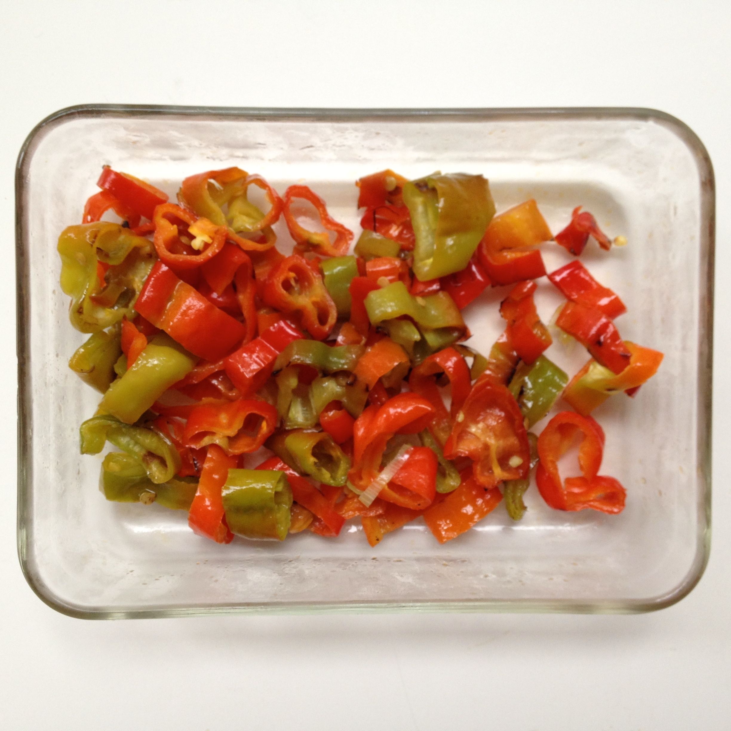 Microwave Red Peppers Sauteed Peppers